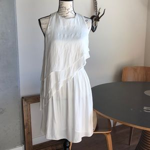 White Zara Ruffle Dress